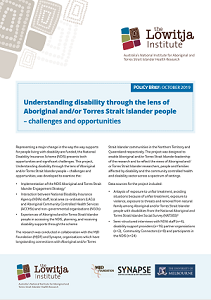 Understanding disability through the lens of Aboriginal and/or Torres Strait Islander people – challenges and opportunities
